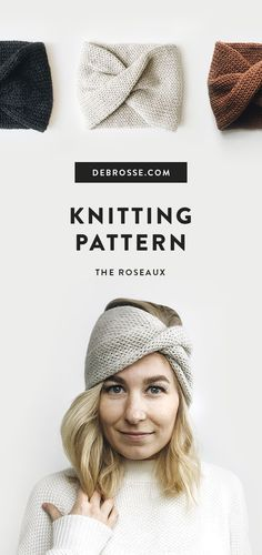 Easy knit pattern for headband. Perfect fall or winter … Easy knit pattern for headband. Perfect fall or winter accessory. Knits up quickly with Lion Brand yarn. Knitting Basics, Knitting Blogs, Knitting Kits, Knitting For Beginners, Easy Knitting, Loom Knitting, Knit Headband Pattern, Knitted Headband, Bamboo Knitting Needles