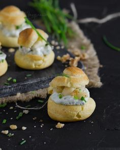 Appetizer Recipes, Appetizers, Choux Pastry, Eclairs, Holiday Tables, Salmon Burgers, Bagel, Finger Foods, My Recipes