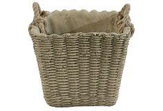"8"" Basket Cement Planter on OneKingsLane.com"