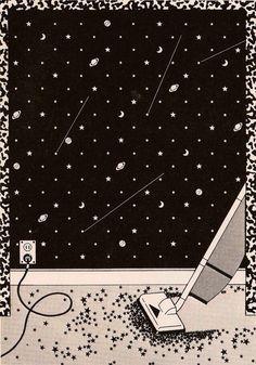 Stars Art And Illustration, Gravure Illustration, Art Magique, Art Graphique, Outer Space, Art Inspo, Illustrators, Cool Art, Art Photography