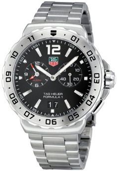 TAG Heuer Men's WAU111A.BA0858 Formula 1 Black Dial Grande Date Alarm Watch | Your #1 Source for Watches and Accessories