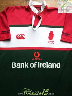 e819bd82f8b Relive Ulster's 2002/2003 seasons with this vintage Canterbury away rugby  shirt.