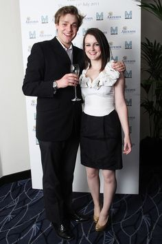Downton Abbey stars, on-screen v. off-screen (look!  sexy William and Daisy together!)