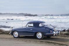 Blue Porsche 356