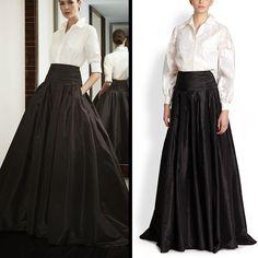 floor length black skirt (10)