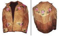 Beaded moose hide jacket, Wedahti Fashions (Dogrib) Native American Moccasins, Native American Beadwork, Native American Indians, Native Style, Rose Art, Beaded Bags, Modern Outfits, Hippie Bohemian, Vest Jacket