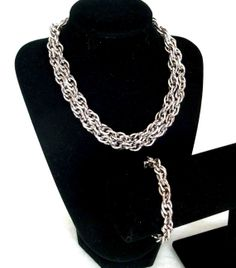 Vintage 1960s Chunky Silver Chain Necklace by RebeccasVintageSalon, $28.00