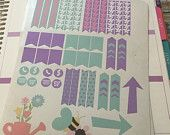 April themed planner stickers for your Erin Condren Life Planner (ECLP), Plum Planner, filofax or any planner