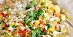 Mexican Risotto with Sweet Corn and Cotija Cheese (Made with Brown Rice!)