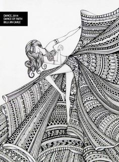 Doodle art Woman Knitwear and Sweaters womans cardigan sweaters Doodle Art Drawing, Zentangle Drawings, Cool Art Drawings, Mandala Drawing, Pencil Art Drawings, Art Drawings Sketches, Zentangle Patterns, Zentangles, Nature Drawing