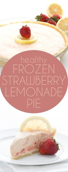 Your low carb keto summer dessert recipe! This no bake Strawberry Lemonade Pie is tart and sweet and the perfect healthy treat. LCHF Banting THM recipe.  via @dreamaboutfood #healthydiettipscleanses
