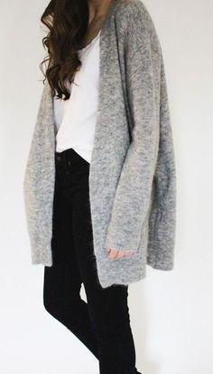 #winter #fashion / casual gray