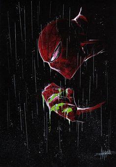 #Spiderman #Fan #Art. (The death of Green goblin -Spiderman) By: Anthony Darr. (THE * 5 * STÅR * ÅWARD * OF * MAJOR ÅWESOMENESS!!!™)[THANK U 4 PINNING!!!<·><]<©>ÅÅÅ+(OB4E)   https://s-media-cache-ak0.pinimg.com/474x/b6/4f/76/b64f76c2f0b05b731a2b42ea873585d3.jpg