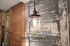 Pendant Fixture with Clear Glass Taper Drum 8 Inch