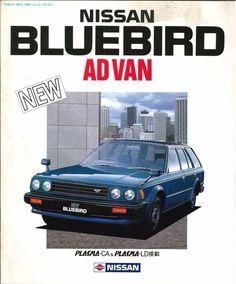 NISSAN BLUEBIRD AD VAN, Japanese Brochure Classic Car Catalog Vintage jg79