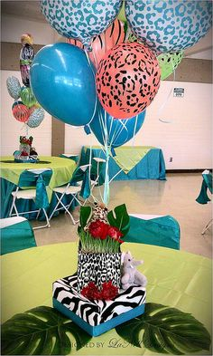Sassy Safari Baby Shower Centerpiece #1 by lanelldesigns, via Flickr