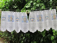 Vintage Cafe Curtain French Lace Brise Bise by HatchedinFrance, $19.00