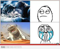 Titanic vs. Avatar the last Airbender, and yes, I feel more sorry for Appa, the sky bison.