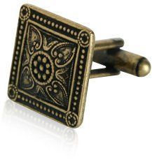 Bronze Victorian Square Cufflinks With Presentation Box @ £14.99