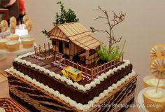 """Photo 2 of Filipino / Birthday """"""""Bahay Kubo"""" Filipino Themed Party"""" Goldilocks Birthday Cakes, Goldilocks Cakes, Fiesta Cake, Fiesta Theme Party, Themed Wedding Cakes, Themed Cakes, Wedding Food Stations, Bahay Kubo, House Cake"""