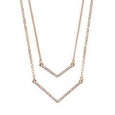 LC Lauren Conrad Chevron Multistrand Necklace #Kohls
