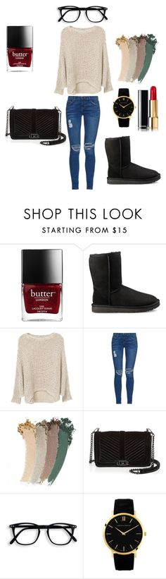 """""""Simply simple 2"""" by rebecabritney on Polyvore featuring UGG, MANGO, Current/Elliott, Gucci and Rebecca Minkoff"""