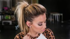 "My fluffy ponytail tutorial! Like for my hair tutorials! Subscribe to my channel http://mygl.am/1qiHByl Products used: ""Teaze"" by Philips Teasing comb Aussie..."