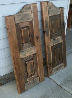 Love saloon doors. Make me feel like I am a cowgirl.