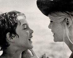 Brigitte Bardot and her son Nicolas