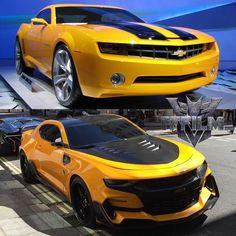 Transformers first film Bumblebee Camaro vs. Transformers fifth film