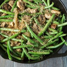 Green Bean Stir Fry with Chicken & Sesame Seeds — Tastes Lovely