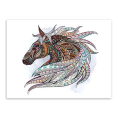 Horse Coloring Book For Adults: An Adult Coloring Book of 40 Horses in a Variety of Styles and Patterns (Animal Coloring Books for Adults) ( Horse Head, Horse Art, Horse Skull, Abstract Wolf, Abstract Nature, Abstract Images, Dibujos Zentangle Art, Totem Tattoo, Indian Horses