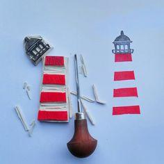 Stempel - Stempelgummi - weich (ca. 8,4 x 9,3 cm) - ein Designerstück von steffie_hamburg bei DaWanda