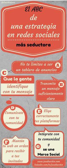 El ABC de una estrategia seductora en #Redes Sociales #infografia #marketing…