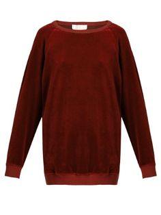 Round-neck velvet sweatshirt   Chloé   MATCHESFASHION.COM UK