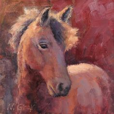 """Daily Paintworks - """"Horse in Red"""" by Naomi Gray"""