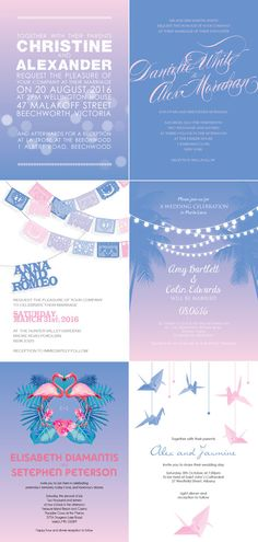 rose quartz and serenity wedding invitations  #rosequartz #serenity #pantone #pantone2016