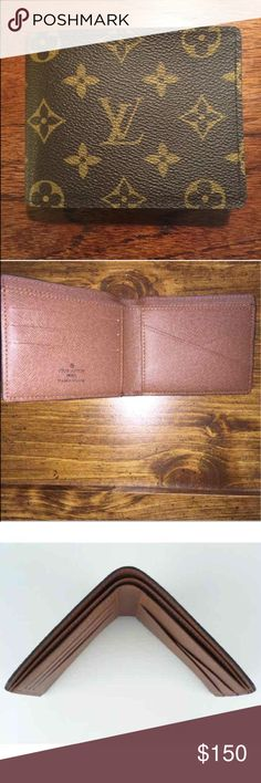 Louis Vuitton mens wallet I had previously sold this wallet but it got last in transaction. I just got this wallet back from USPS. It's made in Italy. This is barley used wallet. Still In great condition. MB0895 is the date code. Louis Vuitton Bags Wallets