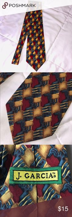 aaf0a0e6776e Jerry Garcia Tie Jerry Garcia Tie in gold, burgundy and teal blue. 100%