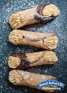 Peanut Butter Cannolis by @Peanut Butter & Co.