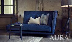 Aura High sofa látkové/kožené Furninova