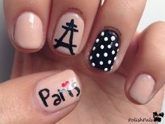 """Paris Nails my first thing on my """"places to go"""" bucket list: to go to paris it looks romantic and amazing"""