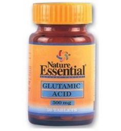 """50 tabletas de Acido Glutamínico 500 MG. Es un aminoácido no esencial que es considerado la """"COMIDA DEL CEREBRO"""" ya que incrementa las capacidades mentales. Juega un papel muy importante en las funciones normales de la próstata."""