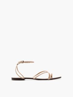NUDE CHAIN SANDALS