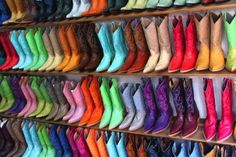 Cozumel Flea Market...that is some kind of flea market!  would love to go there to get some fun boots!