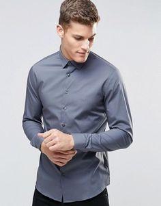 Calvin Klein – Schmales, elegantes Stretchhemd