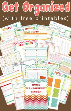 Free family management binder printables.