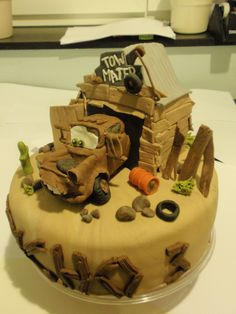 Cars tow mater Hook cake