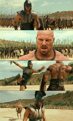 The Achilles move. Troy Movie, I Movie, Troy Film, Brad Pitt Troy, Troy Achilles, City Of Troy, Greek Warrior, The Legend Of Heroes, Trojan War