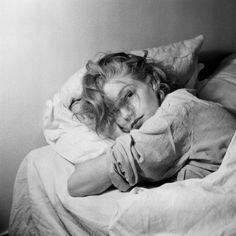 "lesfoudres: "" Simone Signoret, morning beauty """